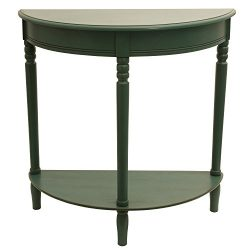 Décor Therapy FR1800 Half Round Table, Antique Teal Finish, 28.25″ W x 11.8″ D x 28. ...