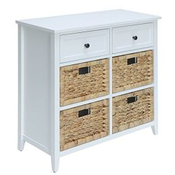 Bowery Hill 6 Drawers Accent Chest in White