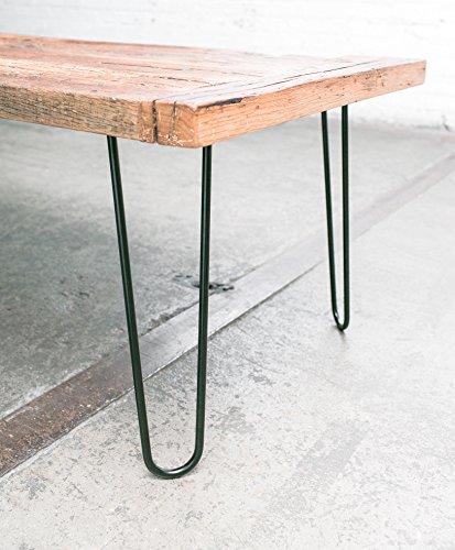 16″ Hairpin Legs (Satin Black) ▫ Industrial Strength ▫ Mid Century Modern ▫ Set of 4 Table ...