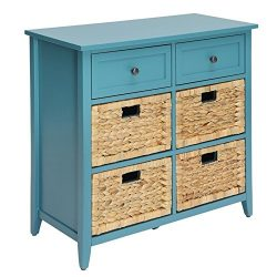 Bowery Hill 6 Drawers Accent Chest in Teal