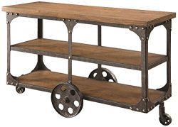 Coaster Traditional Cherry Sofa Table with 2 Shelves
