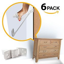 Ella's Homes Furniture and TV Anti Tip Straps | Adjustable Earthquake Resistant Straps | B ...