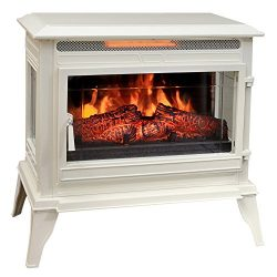 Comfort Smart Jackson Infrared Electric Fireplace Stove Heater, Cream- CS-25IR-CRM