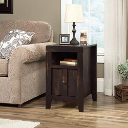 Sauder 422593 Dakota Pass End Table, Char Pine Finish