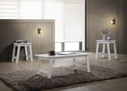 HOMES: Inside + Out IDF-4602WH-3PK Arbor (3 Piece) Table Set, White