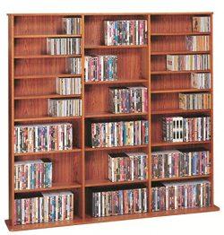 LDE LESLIE DAME Leslie Dame CDV-1500CHY High Capacity Multimedia Cabinet, Cherry