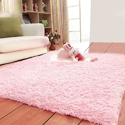 LOCHAS Ultra Soft Indoor Area Rugs Fluffy Living Room Carpets Suitable for Children Bedroom Home ...