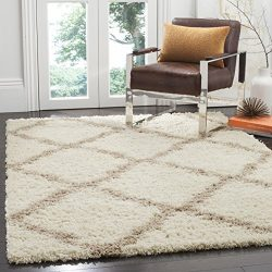 Safavieh Dallas Shag Collection SGD257B Ivory and Beige Area Rug (5'1″ x 7'6&# ...