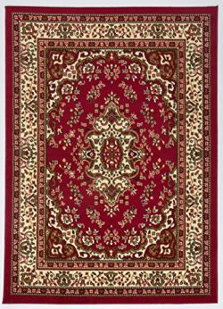 Antep Rugs Kashan King Collection Himalayas Oriental Polypropylene Indoor Area Rug (Maroon/Beige ...