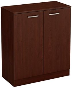 South Shore Axess Small 2-Door Storage Cabinet, Royal Cherry