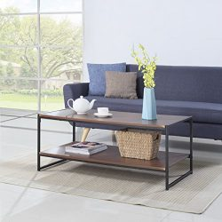Modern Large Rectangular Coffee Table (Brown)