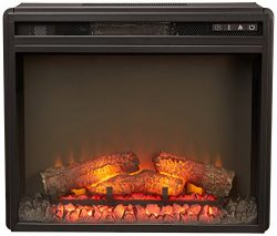 Ashley Furniture Signature Design – Small Electric Fireplace Insert – Includes Inser ...