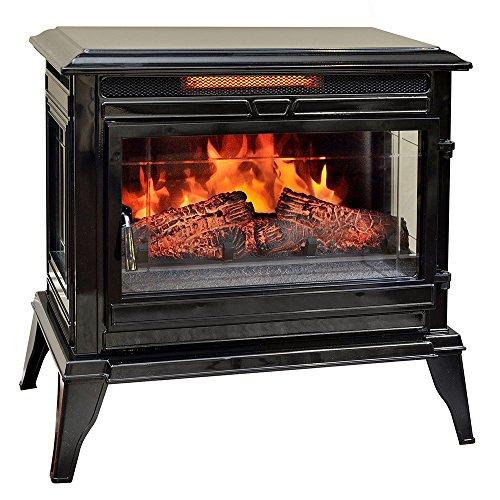 Comfort Smart Jackson Infrared Electric Fireplace Stove Heater, Black – CS-25IR-BLK