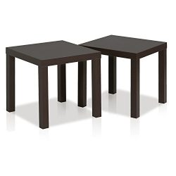 Furinno 2FRN001EX Classic End Table, Espresso