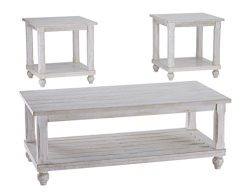Ashley Furniture Signature Design – Cloudhurst Contemporary 3-Piece Table Set – Incl ...