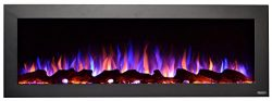 Touchstone 80017 – Sideline Outdoor Electric Fireplace – 50 Inch Wide – in Wal ...