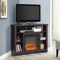WE Furniture Fireplace TV Stand, 44″, Espresso