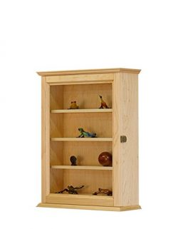 Figurine Display Wall Cabinet- Maple Hardwood *Made in the USA*