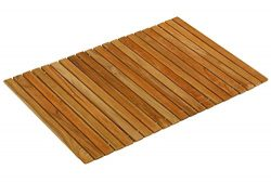 Bare Decor Asi Genuine Teak Wood Flexible Table Top Placemat or Sofa Arm Tray, 1 Mat