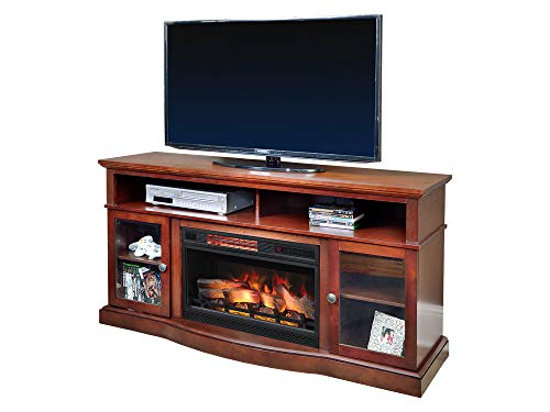 ChimneyFree Walker Cherry Electric Fireplace Entertainment Center – 25MM5326-C245