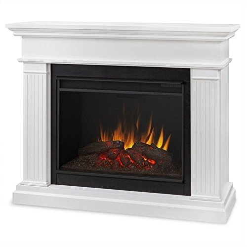 Real Flame 8070E-W Kennedy Grand Electric Fireplace, Large, White