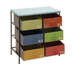 Deco 79 Metal Wood Storage Chest, 23 by 29-Inch