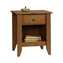 Sauder  Night Stand, 20.866″ L x 17.48″ W x 24.055″ H, Oiled Oak