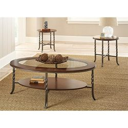 Steve Silver Company Vance Occasional Table (3 Pack), 48″ W x 26″ D x 18″ H/22 ...