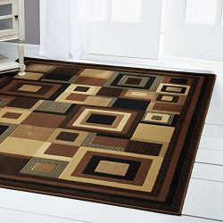 Home Dynamix Catalina Virginia Area Rug 3'3″ x5'2, Geometric Abstract Black/Brown