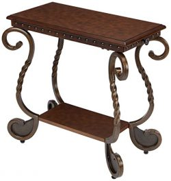 Ashley Furniture Signature Design – Rafferty Chairside End Table – Antique Finish wi ...