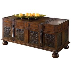 Ashley Furniture Signature Design – McKenna Coffee Table with Storage – Cocktail Hei ...