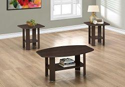 Monarch 3 Piece Table Set, Cappuccino