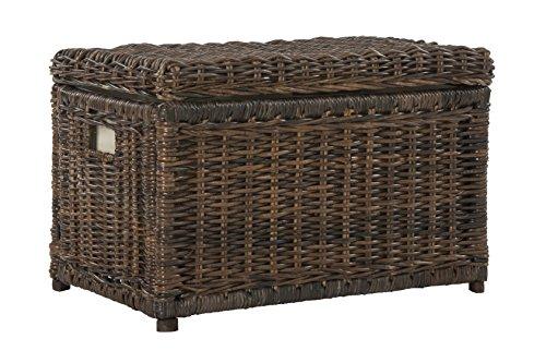 happimess Elijah 30″ Wicker Storage Trunk, Brown