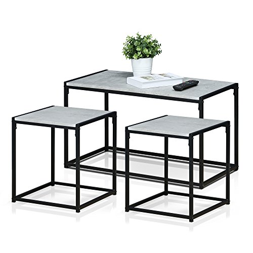 Furinno FM-TS31SW Modern Lifestyle Living Room Set, Stone
