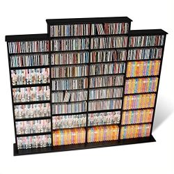 Bowery Hill 64″ CD DVD Wall Media Storage Rack in Black