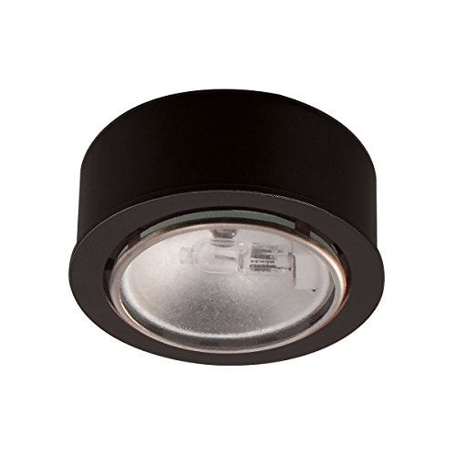 WAC Lighting HR-86-BK Low Voltage Round Xenon Button, 12V 20W