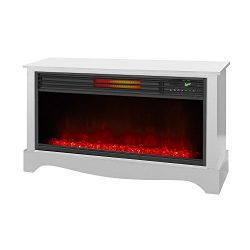 LifeSmart LifeZone Electric Infrared Quartz Fireplace Heater