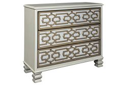 Ashley Furniture Signature Design – Senzernell 3-Drawer Accent Cabinet – Contemporar ...