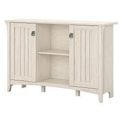 Bush Furniture Salinas Storage Cabinet with Doors in Antique White