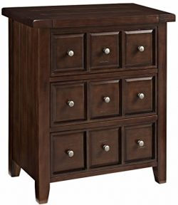 Crosley Furniture CF8001-RM Sienna Apothecary-Style Accent Chest – Rustic Mahogany