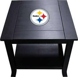 Imperial Officially Licensed NFL Furniture: Hardwood Side/End Table, Pittsburgh Steelers