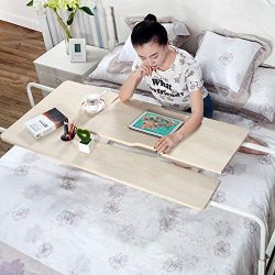 KOMOREBI Overbed Table on Wheels Over The Bed Table Laptop Cart Laptop Desk Mobile Computer Desk ...