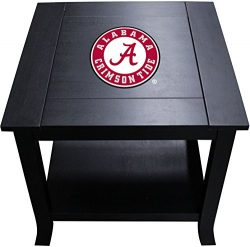 Imperial Officially Licensed NCAA Furniture: Hardwood Side/End Table, Alabama Crimson Tide