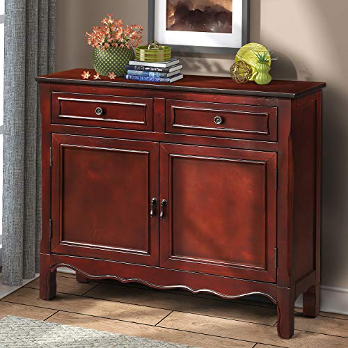 Wood Accent Cabinet with Drawers and Doors Vintage Accent Storage Chest for Entryway, Living Roo ...