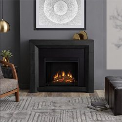 Real Flame 3001E-GRY Hughes Electric Fireplace in Gray, Medium
