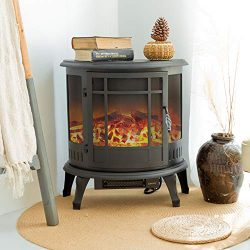 FLAME&SHADE Electric Wood Stove – Flame Effect Fireplace – Portable – Free ...