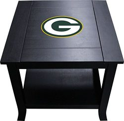 Imperial Officially Licensed NFL Furniture: Hardwood Side/End Table, Green Bay Packers