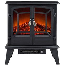 Golden Vantage 20″ 1500W Adjustable 5200 BTU Freestanding 2-Setting Portable Tempered Glas ...