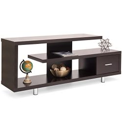 Best Choice Products Living Room Home Entertainment Systems Media Console TV Stand Storage Cabin ...