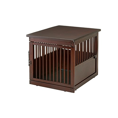 Richell Wooden End Table Crate, Medium, Dark Brown